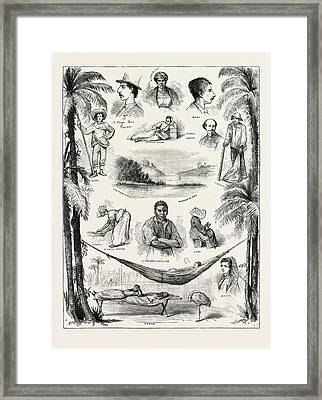 The Capture Of The Virginius, Sketches At Santiago Del Cuba Framed Print