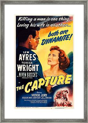 The Capture, Us Poster, From Left Lew Framed Print