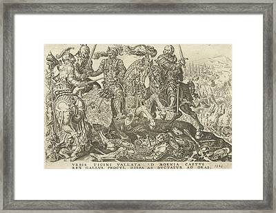 The Capturing Of Francis I At The Battle Of Pavia Framed Print