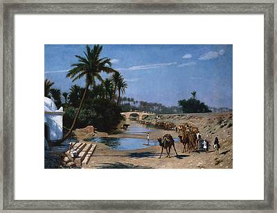 The Caravan Framed Print by Jean Leon Gerome