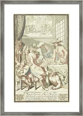 The Card Game, Pieter Van Den Berge Framed Print by Pieter Van Den Berge