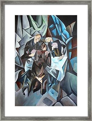 The Card Players Framed Print by Tracey Harrington-Simpson