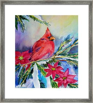 The Cardinal Framed Print by Gloria Johnson