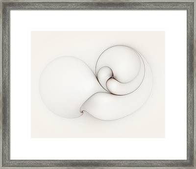 Framed Print featuring the digital art The Caress by Casey Kotas