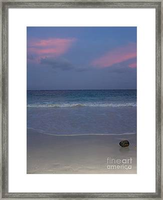 Framed Print featuring the photograph The Caribbean Sunset by Ze  Di