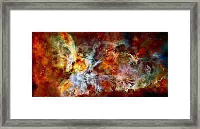 The Carina Nebula Framed Print by Amanda Struz