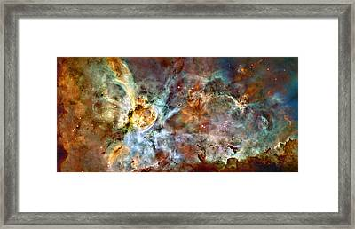 The Carina Nebula Framed Print by Ricky Barnard