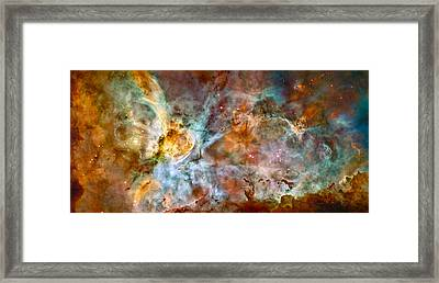 The Carina Nebula - Star Birth In The Extreme Framed Print by Marco Oliveira