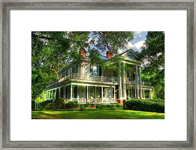 A Southern Bell The Carlton Home Art Southern Antebellum Art Framed Print by Reid Callaway
