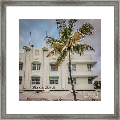 The Carlyle South Beach Miami - Art Deco District Framed Print by Ian Monk