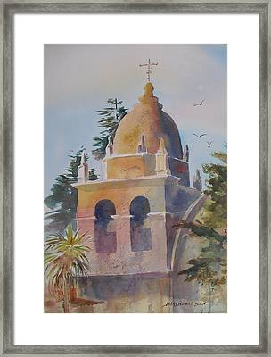 The Carmel Mission Framed Print
