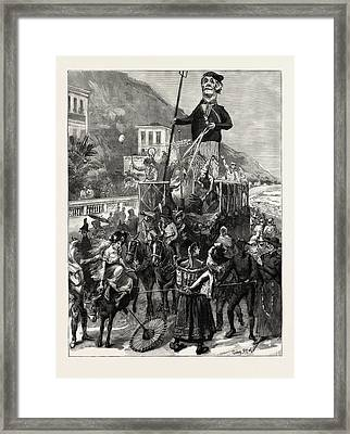 The Carnival At Mentone, Menton, France Framed Print by French School