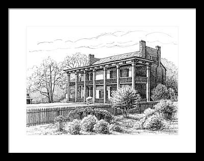 Confederate Hospital Framed Prints