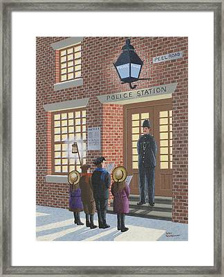 The Carolers Framed Print