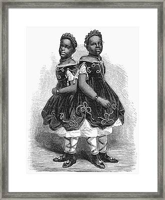 The Carolina Twins, 1866 Framed Print by Granger