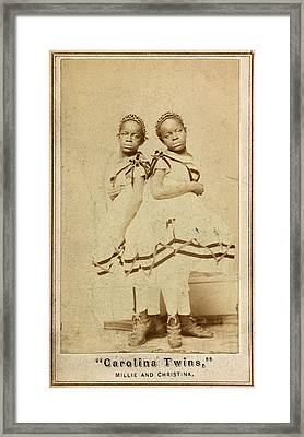 The Carolina Twins, C1866 Framed Print by Granger