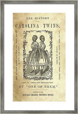 The Carolina Twins, C1869 Framed Print