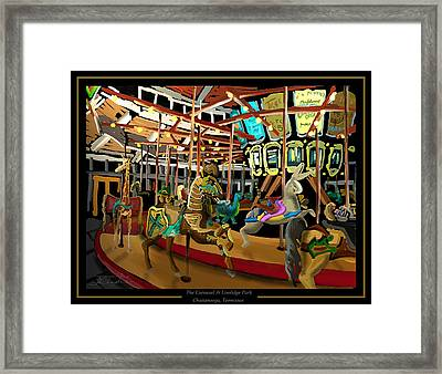 The Carousel At Coolidge Park - Chattanooga Landmark Series - #6 Framed Print by Steven Lebron Langston