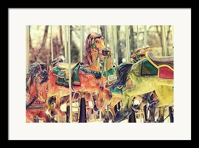 Carousels Framed Prints