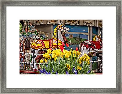 The Carousel Framed Print by Cheryl Cencich