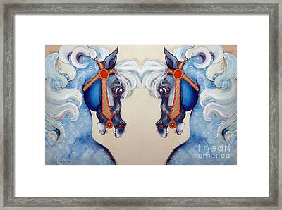 The Carousel Twins Framed Print by Carolyn Weltman