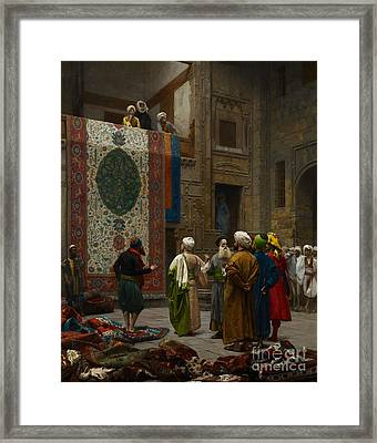 The Carpet Merchant Framed Print by Jean Leon Gerome