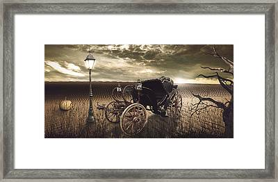 The Carriage In The Desert Framed Print by Eleonora Krstulovic