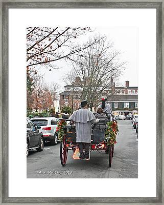 Framed Print featuring the photograph The Carriage Ride by Ann Murphy