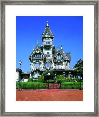The Carson Mansion In Eureka, California Framed Print by John Alves