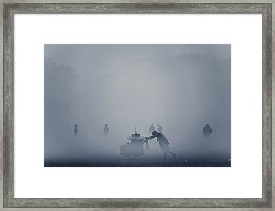 The Cart In The Fog Framed Print by Www.sayantanphotography.com