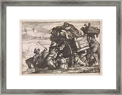The Cart, Jan Baptist De Wael Framed Print by Jan Baptist De Wael