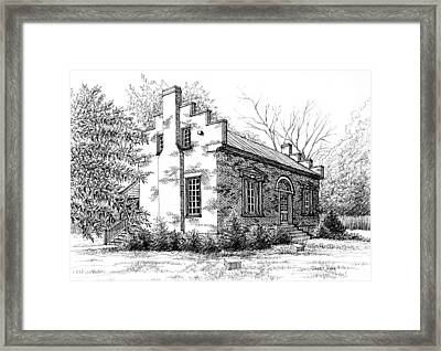 The Carter House In Franklin Tennessee Framed Print