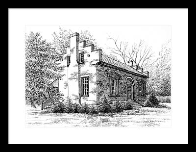 Museum And Gift Shop Drawings Framed Prints