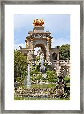 The Cascada In Parc De La Ciutadella In Barcelona Framed Print