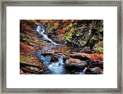 The Cascades Of Chesterfield Gorge Framed Print