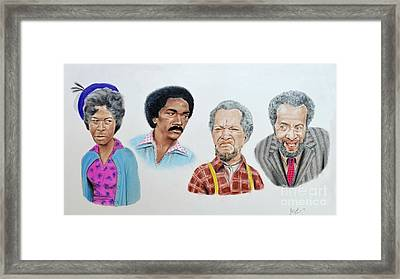 The Cast Of Sanford And Son  Framed Print by Jim Fitzpatrick