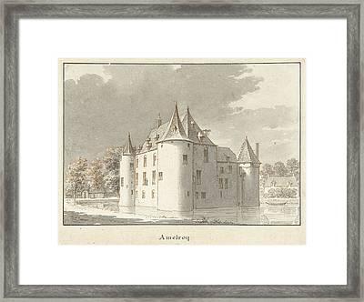 The Castle Amelroy Or Ammerzoden, Gelderland The Netherlands Framed Print