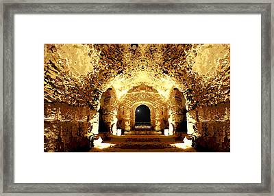 Framed Print featuring the photograph The Castle At Night by Marwan Khoury