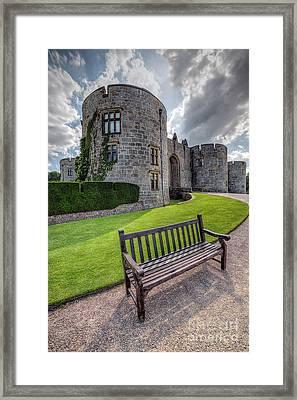 The Castle Bench Framed Print