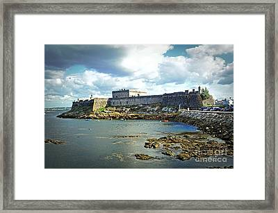 The Castle Fort On The Harbor Framed Print by Mary Machare