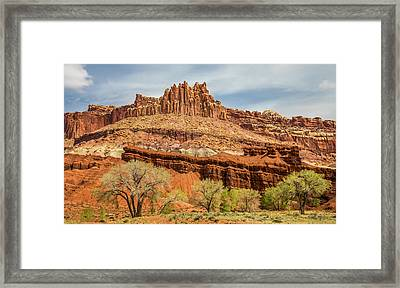 The Castle In Capitol Reef National Park Framed Print by Pierre Leclerc Photography