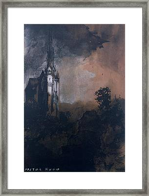The Castle In The Moonlight  Framed Print by Victor Hugo