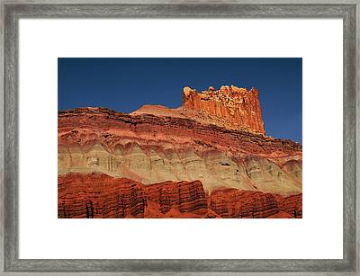 The Castle In The Morning, Scenic Framed Print by Michel Hersen