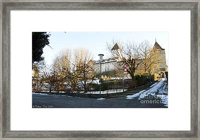 Framed Print featuring the photograph The Castle In Winter Light by Felicia Tica