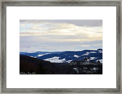 Framed Print featuring the photograph The Castle In Winter Look 2 by Felicia Tica