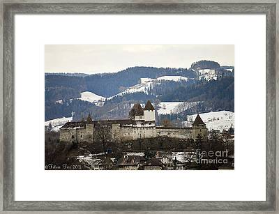 Framed Print featuring the photograph The Castle In Winter Look by Felicia Tica