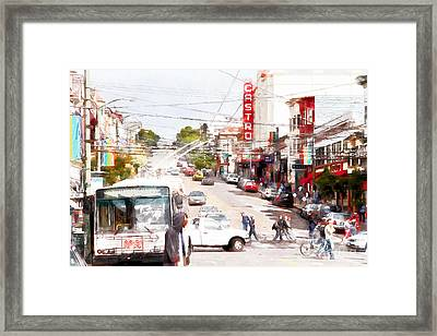 The Castro District In San Francisco 7d7573wcstyle Framed Print
