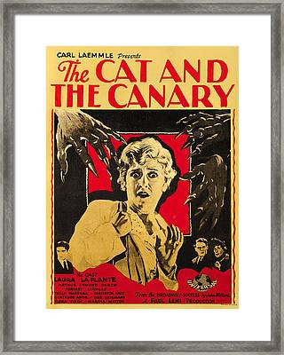 The Cat And The Canary Framed Print by Universal