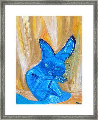 The Cat Camelion  Framed Print by Shea Holliman