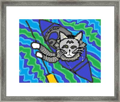 The Cat Rescuer Framed Print